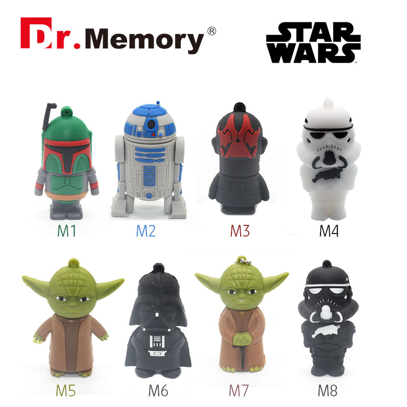 star war usb flash drive cool pen drive mini usb stick hot sale pendrive 4G 8G usb key 16G USB flash card for gift(China (Mainland))