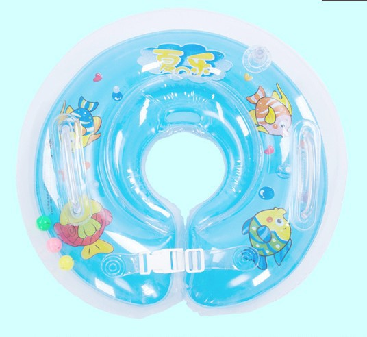 Inflatable Neck Ring Infant baby Swimming Neck Float Ring Safety Adjustable Baby Swimming Accessories Blue Pink with pump(China (Mainland))