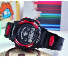 2016 Digital Watch Children Watch Brand New Noctilucent 5 Colors Rubber Men And Women Relogio Multifunction