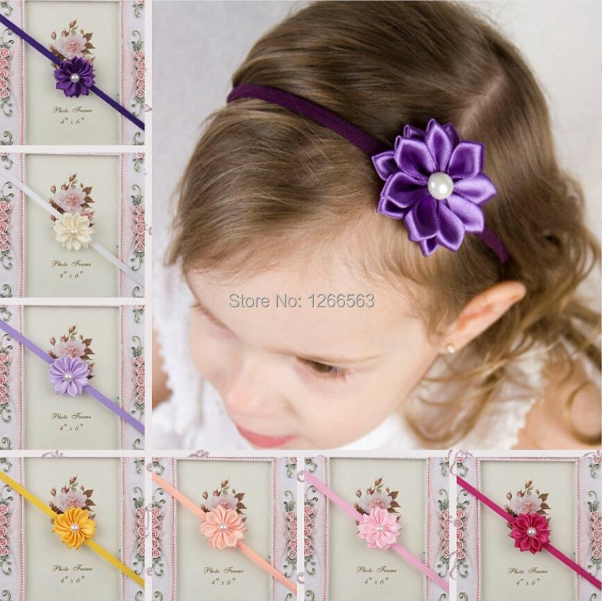 Baby Girl Hair Headband DIY Satin Ribbon Big Bow Elastic Headband for Baby Newborn Infant Toddler Hair Bands(China (Mainland))