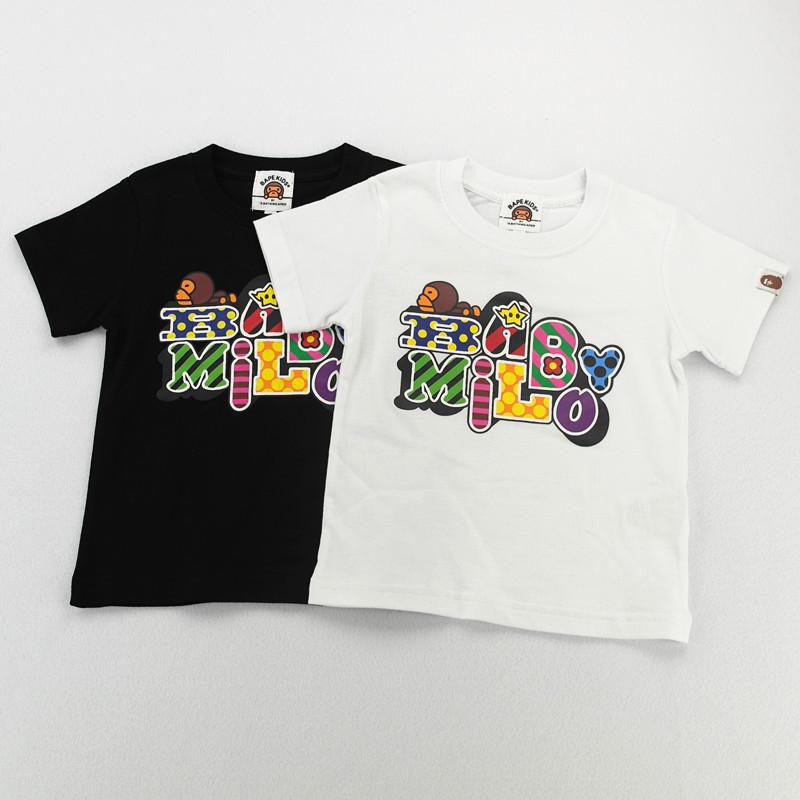 New Summer Baby Kids Boys T Shirt Short Sleeved Tee Bape patten Best Children Tees Cotton