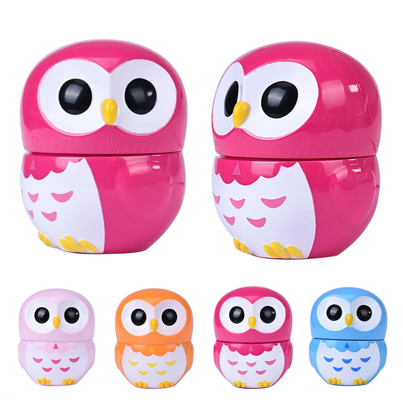 Mance-Z5 Owl Timer Kitchen 60 Minute Cooking Mechanical Home Decoration New(China (Mainland))