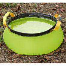 2014 NEW 10L Outdoor Foldable Nylon Water Washbasin Portable Wash Bag Quick Dry Camping Picnic Foot Bath Green/Blue(China (Mainland))