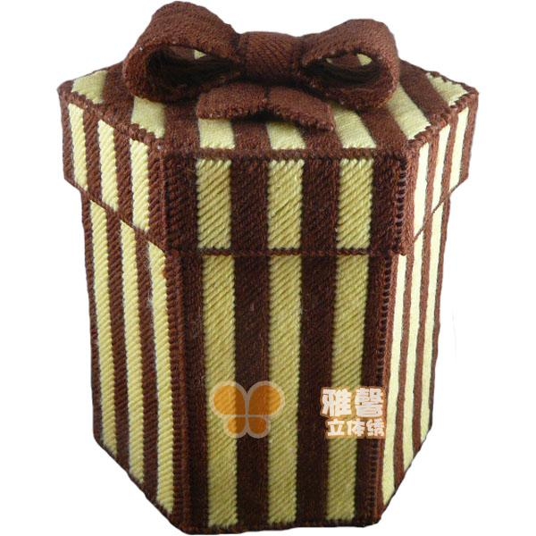 Xin Ya dimensional embroidery stitch wool brown bow storage box storage finished customized full hundred 1