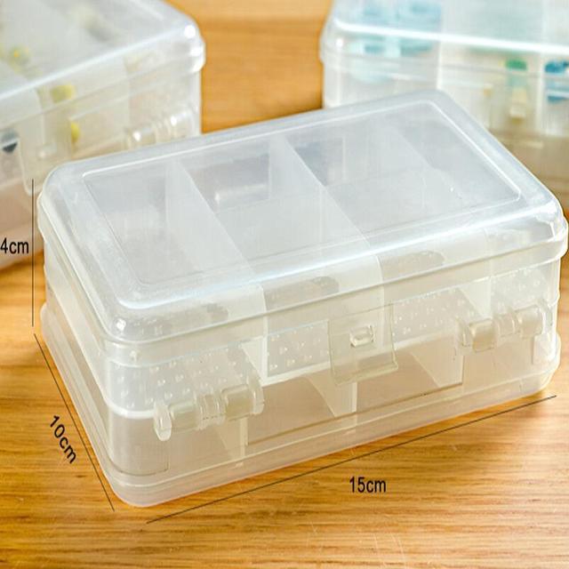 Прямоугольная прозрачная мульти-сетка двойной слой хранения чехол медицина наркотиками ...