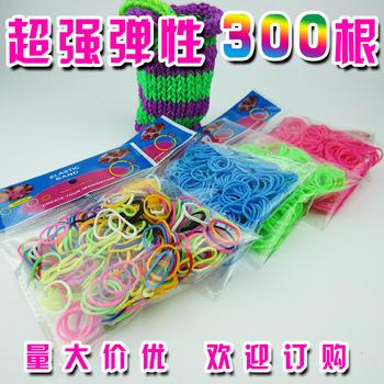 2015 горячая распродажа 300 шт. резинки для браслетов жевательная резинка для волос для рук девушки сетки ткачество браслеты дети плетение ткачество