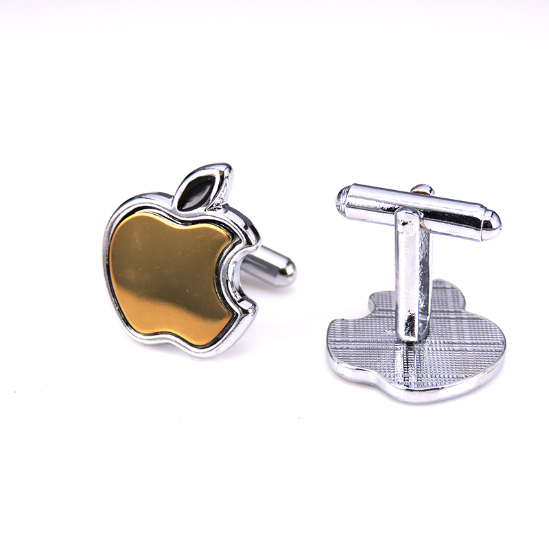 2016 Jewelry shirt cufflinks for mens Brand Golden Apple cuff buttons cuff links High Quality abotoaduras Free Shipping(China (Mainland))