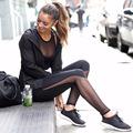 Sexy Yoga Pants Women Leggings Sports Clothing Waist Women Yoga Sport Pants Tights Mesh Compression Tights