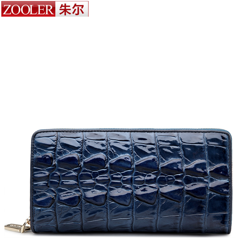 ZOOLER 2016 winter real leather wallets men clutches genuine leather wallet for men card holder purse long Alligator grain 80003<br>