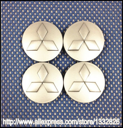 4x MITSUBISHI 60MM Sliver WHEEL CENTER HUB CAPS 2.25INCH Eclipse Galant Lancer Free Shipping(China (Mainland))