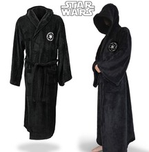 Star Wars Jedi Knight Robe Deluxe Bath Robe Carnival Cosplay Costume Black Robe Free Shipping