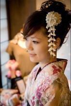 Japanese traditional Style tessel Flowers kimono cloth flower hairpin yukata Classic hair decoration headwear hair accessories