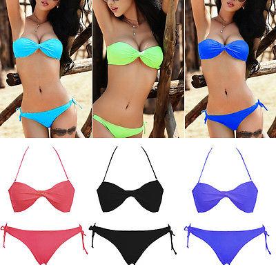 2015 Sexy Women Bandage top Triangle Bikini Push-up Swimsuit Bathing Suit SwimwearОдежда и ак�е��уары<br><br><br>Aliexpress