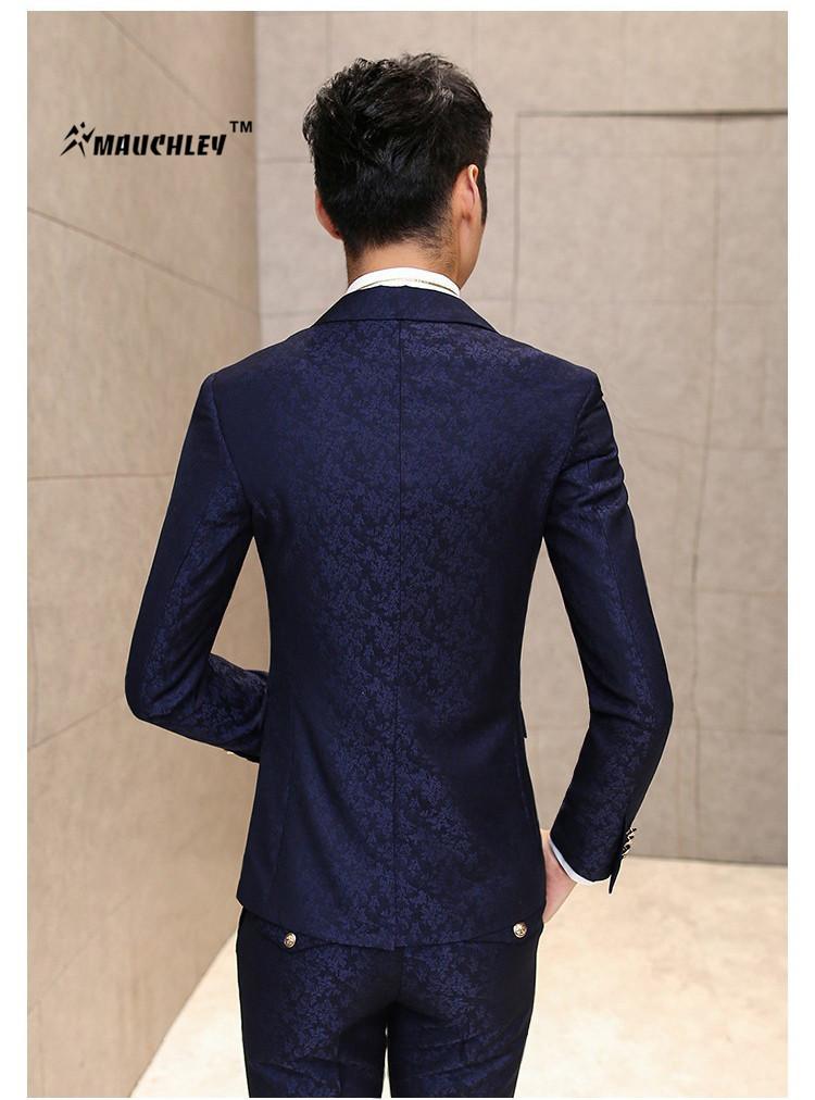 HTB12OUJQpXXXXXHaXXXq6xXFXXXA - MAUCHLEY Prom Mens Suit With Pants Burgundy Floral Jacquard Wedding Suits for Men Slim Fit 3 Pieces / Set (Jacket+Vest+Pants)