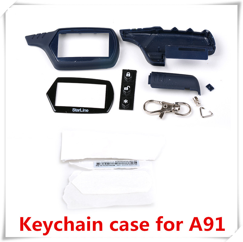 high quality instock LCD remote keychain case/body/cover for russian version two way car alarm system starline A91(China (Mainland))