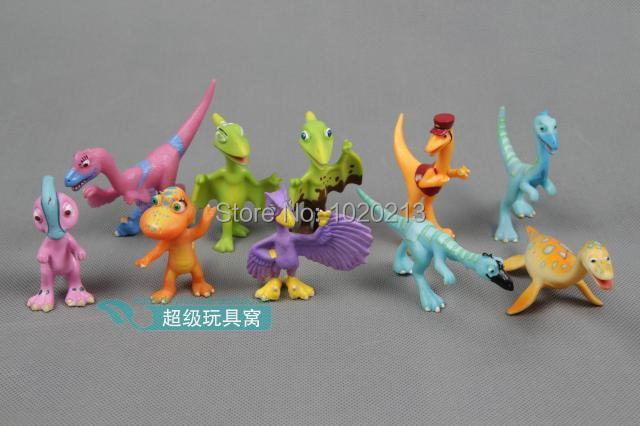10pcs/lot Random Shipping! Cartoon Dinosaur Train Action Toy Figures Pterosaur And Tyrannosaurus Rex Figures(China (Mainland))