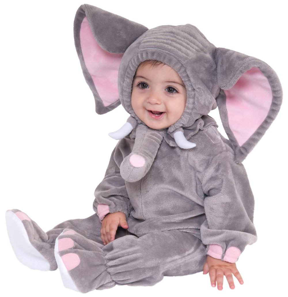 Free Shipping Baby Rompers Elephant 3-24 M Flannel Long Sleeves Baby Costume Clothing Clothes