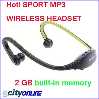 Wrap Around Wireless Headphones Headset Sport MP3 Player with TF card   2pcs/lot Free Shipping