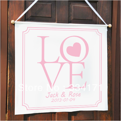 new arrival Personalized wedding banner classic and style custom banner Love(China (Mainland))