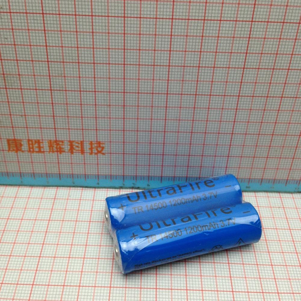 Wholesale 2Pcs Lot UltraFire AA 14500 1200mAh 3 7V Li lon Rechargeable Batteries New High Quality