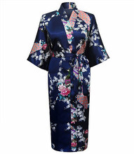 High Quality Dark Green Female Rayon Robe Kimono Bath Gown New China Lady Nightgown Size S M L XL XXL XXXL Mujer Vestido LS0001B(China (Mainland))