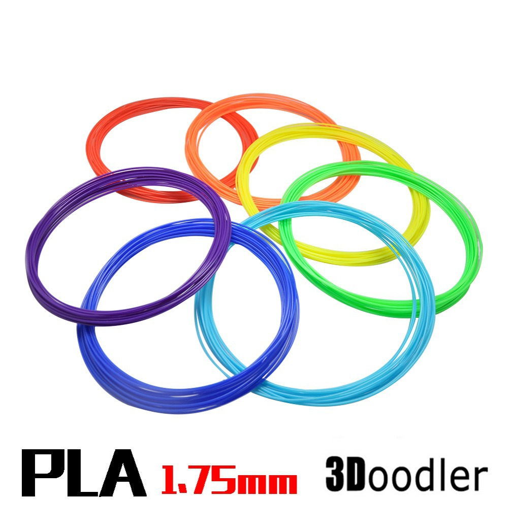 3D brush print line 3D Printer Pen Filament ABS 1.75mm Plastic Rubber Consumables Material Each of 10 Different Colors(China (Mainland))