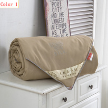 Hot drilling butterfly style natural mulberry silk quilt is very comfortable to nourish the skin summer home textiles(China (Mainland))