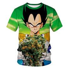 Dragon ball Z Super Saiyan футболки футболка «Goku» забавная футболка Аниме Мужская одежда футболка camiseta hombre футболка в стиле хип-хоп(China)