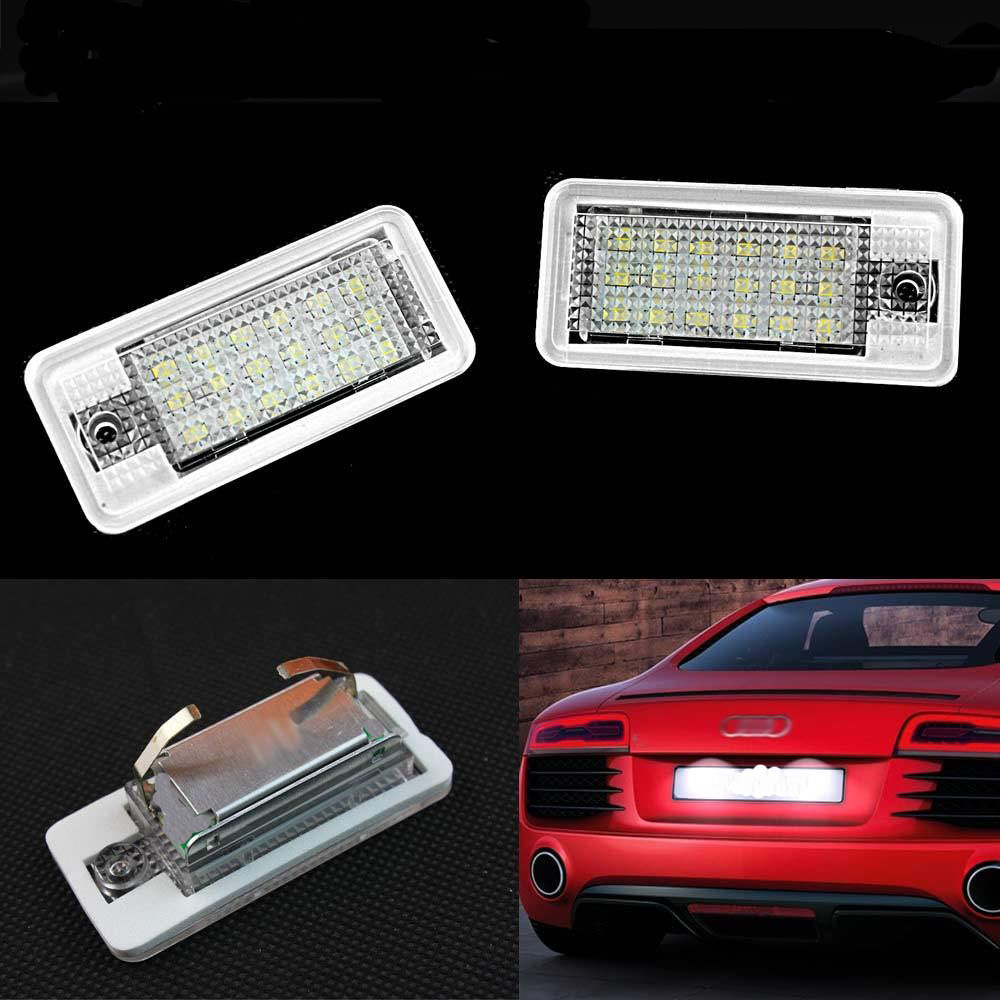 Гаджет  Hot for CAN-bus White For Error Free 2x 18LED License Plate Light Lamp For Audi B6 B7 A8 Q7 RS8 White None Автомобили и Мотоциклы