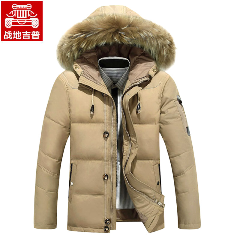 AFS JEEP Jeep down jackets men s winter coats in the field of genuine raccoon fur