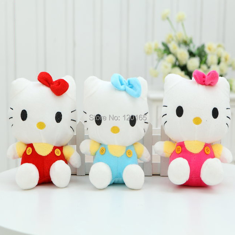 wholesale Hello Kitty plush toys sitting height 20cm doll birthday gift for children valentines KT cat(China (Mainland))