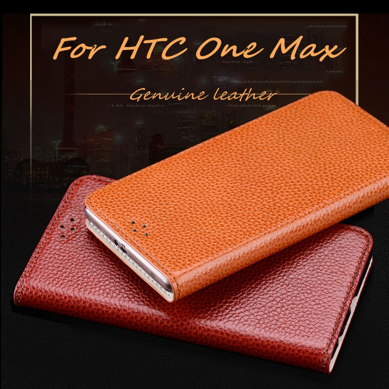 """Fashion Business Style Genuine Leather Phone Case For HTC One Max T6 5.9"""" High Quality Luxury Mobile Phone Case(China (Mainland))"""