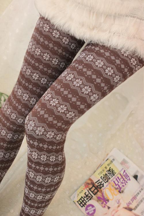 Stylish Womens Winter Leggings Thickening Ladys Trousers Speical Bamboo Fiber Female Pants Leg Slim Snowflake Ladies LeggingОдежда и ак�е��уары<br><br><br>Aliexpress