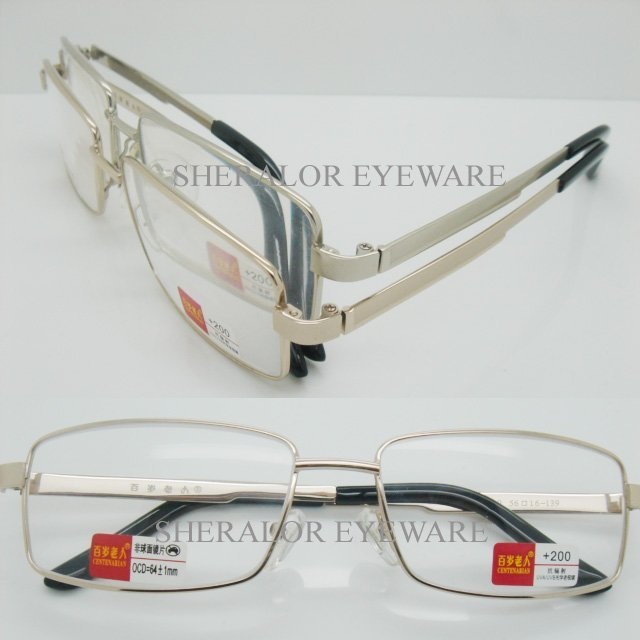 wholesales 99010 high classic alloy metal full-rim hinge reading eyeglasses with transparent case free shipping