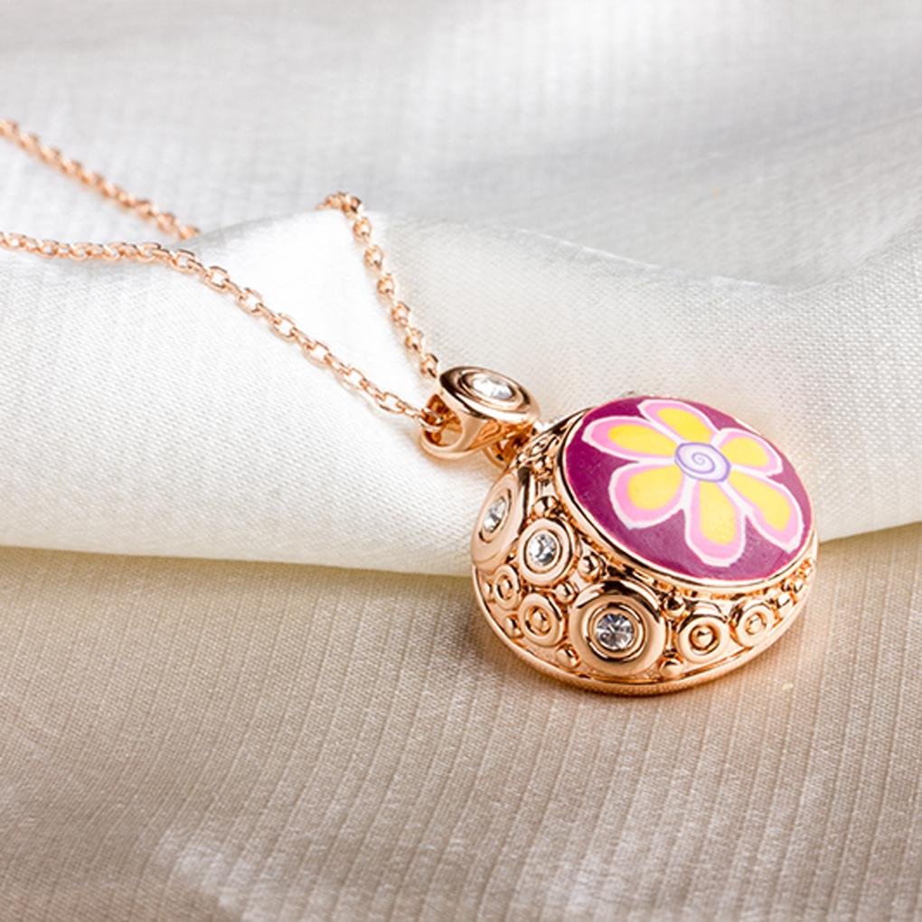 Fashion style Golden Beads Sunflowers patterns Painting Pendant Necklace Lady summer decoration Necklace hot sale(China (Mainland))