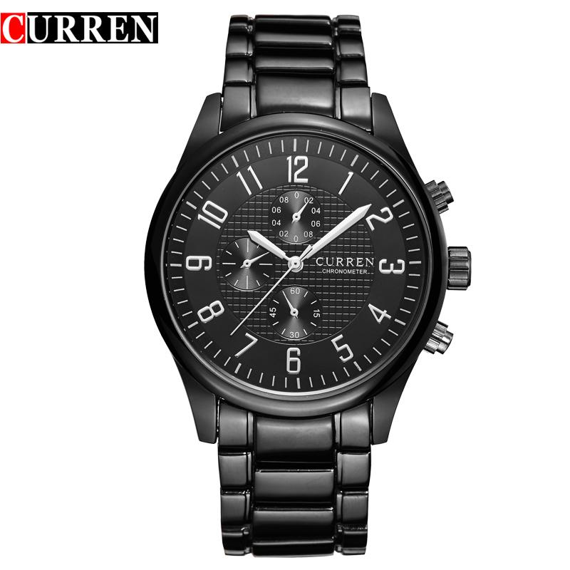 CURREN Fashion Men Casual Watch Brand Full Steel Men Sports Watches Top Brand Luxury Waterproof Mens Quartz Wristwatch Relogio<br><br>Aliexpress
