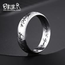 Beier новый store100 % стерлингового серебра 925 Карбида одно Кольцо Власти Ширина 6 мм обручальное кольцо Ювелирные изделия BR-SR004(China (Mainland))