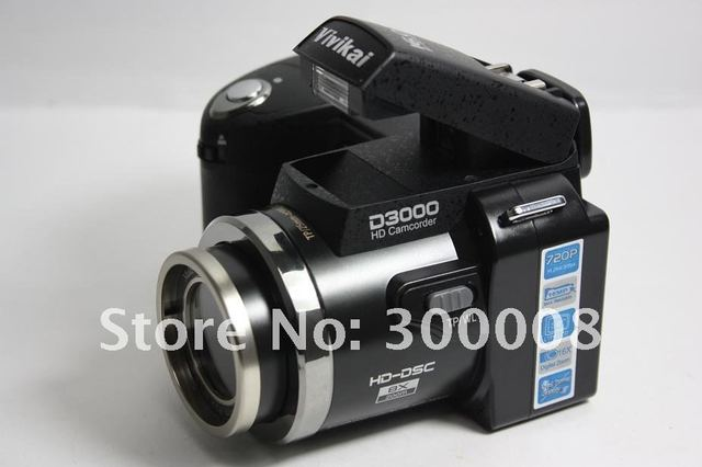 "Free Shipping 2012 newest Camera slr  D3000 with 16.0MP 3.0"",support to 32GB sd card,standad,wide angle and long distance lens"