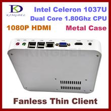 Fanless Thin client pc,mini desktop, pc share 4GB+160GB Intel Celeron Dual Core 1.8Ghz, 1080P HIMI, Windows 7