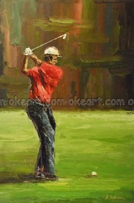 oil paintings on canvas free shipping decoration decoration Golf Swing traditional background High quality modern abstract art(China (Mainland))