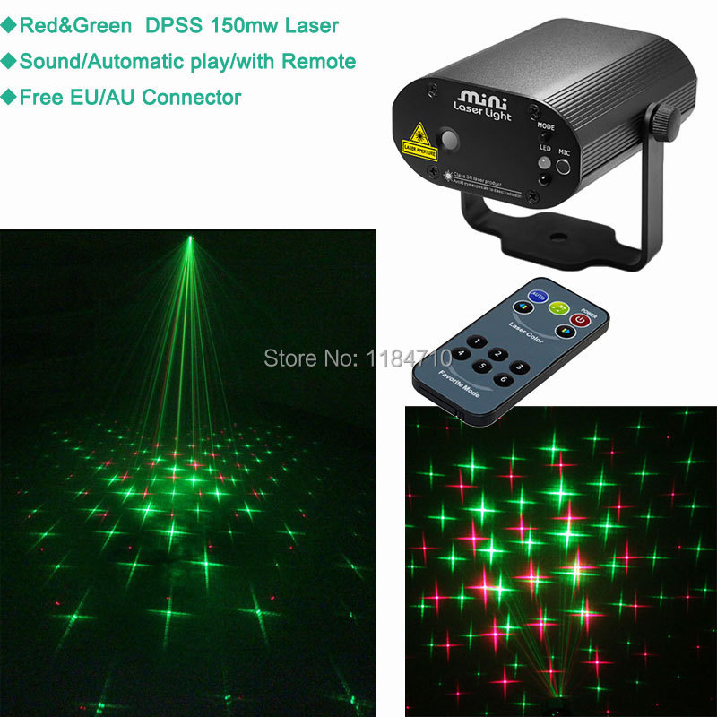 new mini laser Projector RG remote big stars gobo effect lighting Light DJ dance Disco bar Xmas Party Stage Lights Show B64 free<br><br>Aliexpress