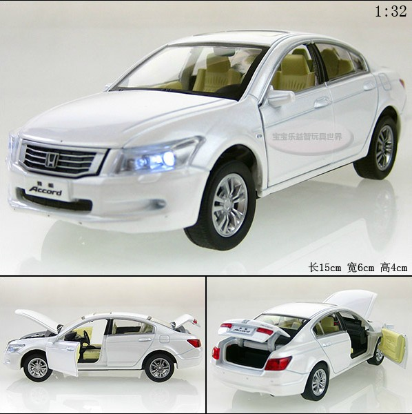 New 1:32 Honda Accord Alloy Diecast Model Car Toys Vehicle gift With Sound & Light Collection White B2332(China (Mainland))