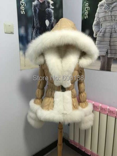 Online Buy Wholesale duck down jacket with fox fur trim from China