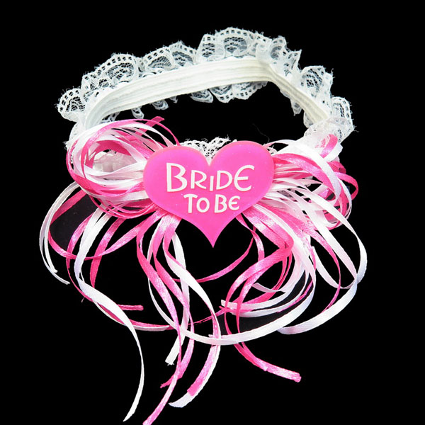 Гаджет  Retail - Bride to be ribbon garters wedding decoration for Bachelorette party and Hen Party favors for event hen party supplies None Дом и Сад