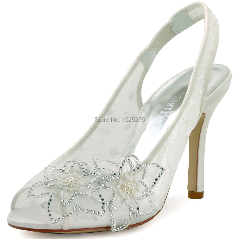2015 New Design Fashion Shoes  HP1502 White  Ivory  Pointed Toe 3.5  Hihg Heel Lace Satin Wedding   Bridal  Shoes  EURO36-42<br><br>Aliexpress