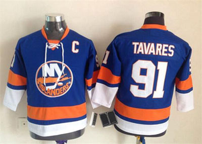 New Black Youth/Kid's New York Islanders #91 John Tavares Jersey Royal Blue Jerseys,100% Stitched,Top Quality,S/M L/XL(China (Mainland))