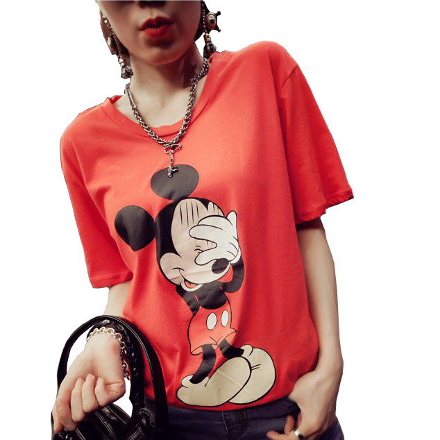 summer style cheap t shirts with graphics unisex mikey mouse Garfield donald duck shirts printing moda feminina tee tops tshirt Одежда и ак�е��уары<br><br><br>Aliexpress