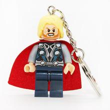 Тор Mrvel супер герой брелоки Minifigures брелок для ключей пользовательских брелки поделки ручной работы брелок строительные блоки игрушки