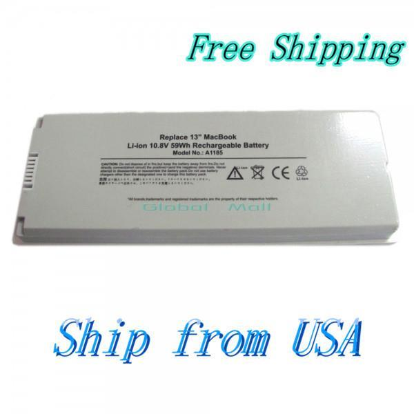 "Ship From USA Laptop Battery 59W 10.8V for Apple MacBook 13"" A1185 A1181 MB061LL/A N8401WH(China (Mainland))"