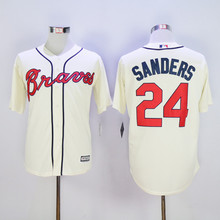 Mens Atlantas Baseball Jerseys #24 Deion Sanders Stitched Home Road Alternate Braveing Top Quality(China (Mainland))